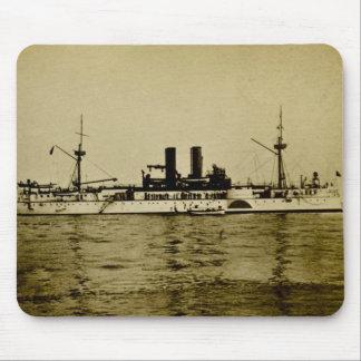 戦艦のメインのヴィンテージStereoview マウスパッド