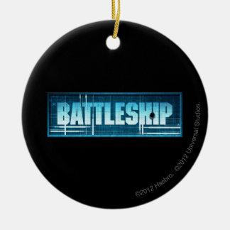 戦艦のロゴ セラミックオーナメント
