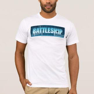 戦艦のロゴ Tシャツ
