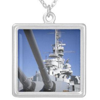 戦艦の記念物のUSSアラバマの戦艦 シルバープレートネックレス