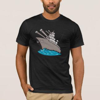 戦艦メンズTシャツ Tシャツ