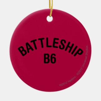 戦艦B6のロゴ セラミックオーナメント