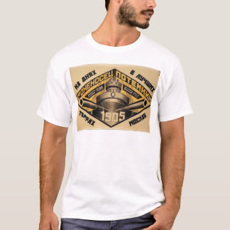 「戦艦Potemkin」の映画広告のプリント Tシャツ
