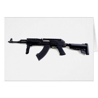 戦術的なカラシニコフ自動小銃の突撃銃はプロフィールを去りました カード