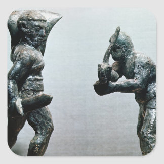 戦闘の2人の剣闘士 スクエアシール