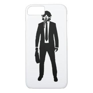 戦闘機のパイロットのファッションのスーツ iPhone 8/7ケース