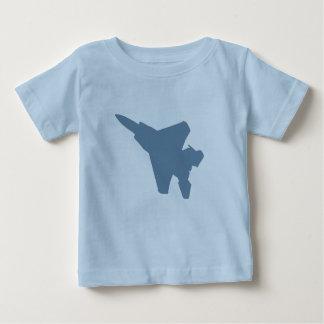 戦闘機の乳児のTシャツ ベビーTシャツ