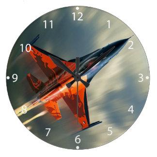 戦闘機の軍の飛行機の速度 ラージ壁時計