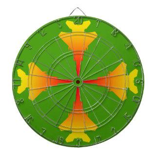 戦闘機の金属のおりの緑のダート盤 ダーツボード