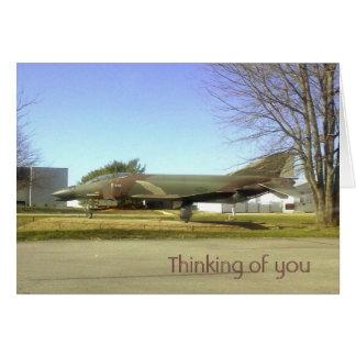 戦闘機(F4幻影)のThinking_of_youカード グリーティングカード