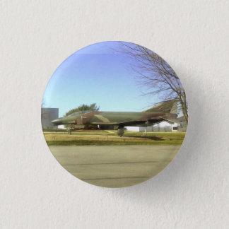 戦闘機(F4幻影)ボタン 3.2CM 丸型バッジ