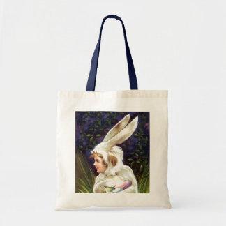 戦闘状況表示板の御馳走ヴィンテージのイースターのウサギの卵の狩りのギフトバッグ トートバッグ