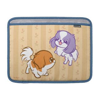 戯れるかわいいの子犬の日本語Chin MacBook スリーブ
