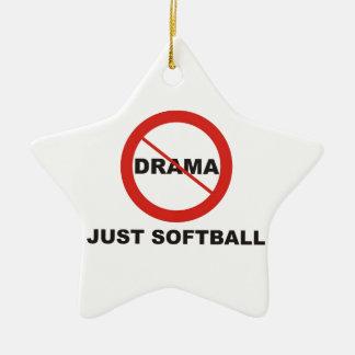 戯曲ちょうどソフトボール無し 陶器製星型オーナメント