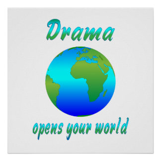 戯曲は世界を開けます プリント