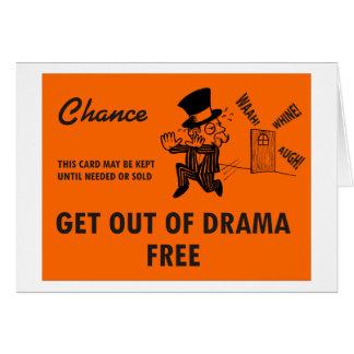 戯曲自由な挨拶状から出て下さい グリーティングカード