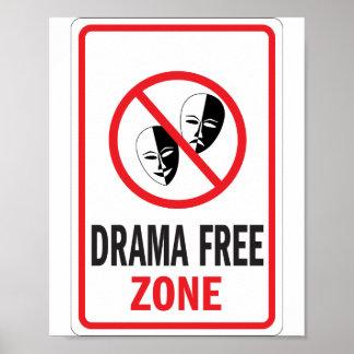 戯曲自由地帯の警告標識 ポスター