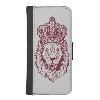 戴冠させたライオンの頭部 iPhoneSE/5/5sウォレットケース