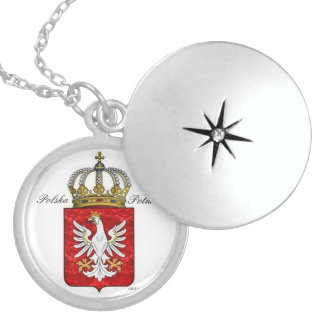 戴冠させたワシが付いているポーランドの頂上 ロケットネックレス