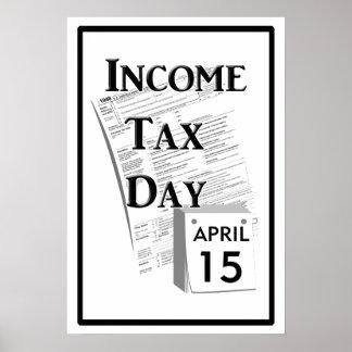 所得税日 ポスター