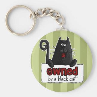 所有された黒猫 キーホルダー