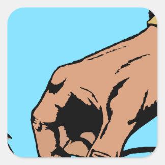手および有刺鉄線 スクエアシール