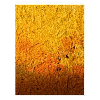 手すき紙の水彩画の絵画 ポストカード