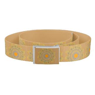 手によって着色されるヒマワリのデザインの習慣ベルト ベルト