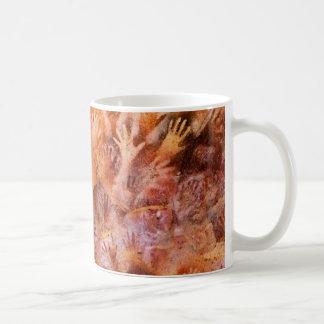 手のコーヒー・マグの有史以前の洞窟壁画 コーヒーマグカップ
