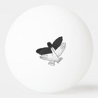 手のシルエットのワシ 卓球ボール