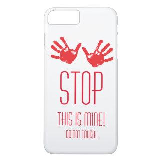手のプリント-停止! これは私の物です! iPhone 8 PLUS/7 PLUSケース