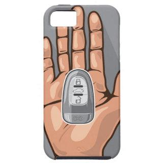 手のベクトルの車の鍵 iPhone SE/5/5s ケース
