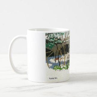 手の刺繍から再生される コーヒーマグカップ