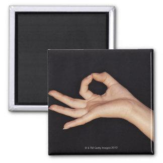 手の印を身振りで示す撃たれるスタジオ マグネット