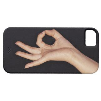 手の印を身振りで示す撃たれるスタジオ iPhone SE/5/5s ケース