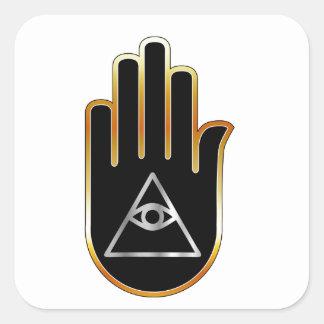 手の宗教記号のプロヴィデンスの目 スクエアシール