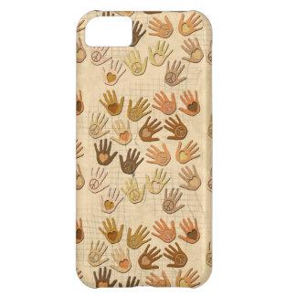 手の平和そして愛 iPhone5Cケース