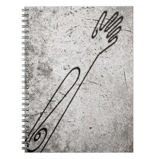 手の影 ノートブック