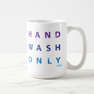 手の洗浄メッセージのマグだけ ベーシックホワイトマグカップ