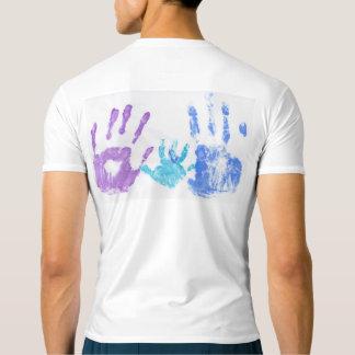 手の点の人の性能の圧縮のTシャツ Tシャツ