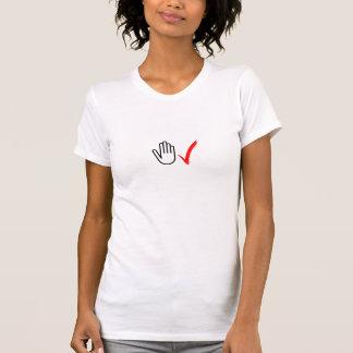 手の点検のTシャツ(レディース) Tシャツ