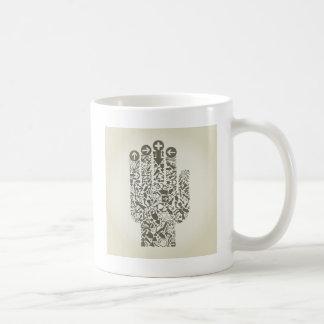手の矢 コーヒーマグカップ
