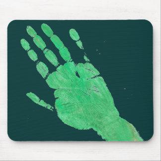 手の緑 マウスパッド