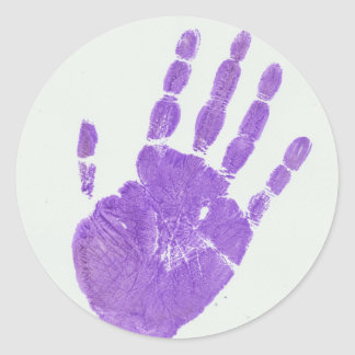 手の薄紫 ラウンドシール