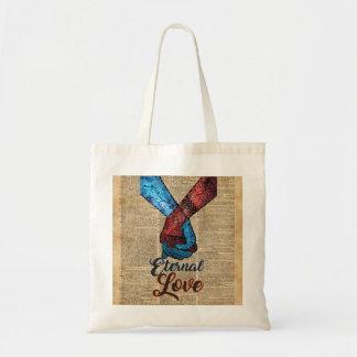 手の、永遠の愛把握、宇宙辞書の芸術 トートバッグ