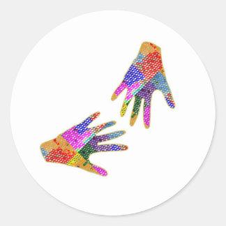 手のHennaの友情の抱擁 ラウンドシール