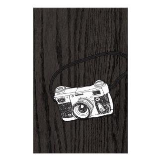 手はレトロのカメラをスケッチしました 便箋