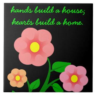 手は家を造りますが、ハートは家を造ります タイル