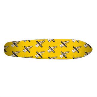 手を必要として下さいか。 (黄色) 21.6CM オールドスクールスケートボードデッキ