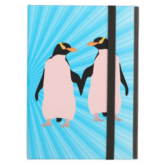 手を握っているゲイプライドのレズビアンのペンギン iPad AIRケース
